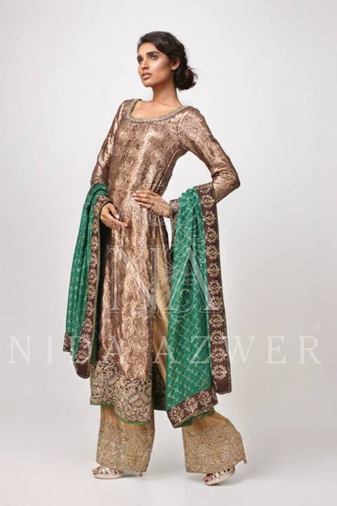 Nida Azwer Formal Wear Dresses 2014 for Women