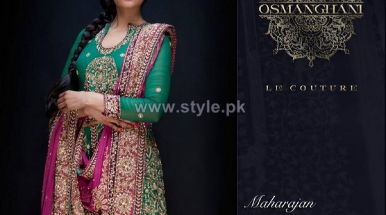 Osman Ghani Semi Formal Dresses 2014 For Winter