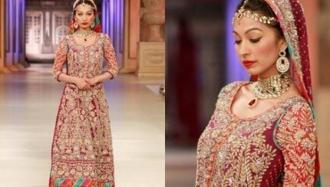 Pakistani Full Sleeve Wedding Dresses 2014 004