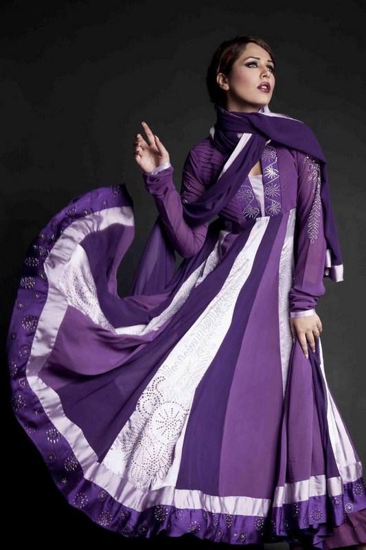 Pakistani Long Sleeve Dresses 2014 For Women 008