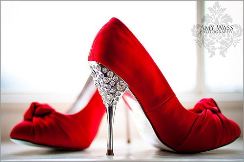 Red Bridal High Heel Shoes For Wedding 0011