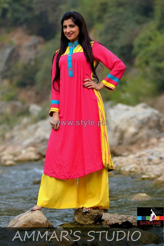 Satrangi by Saqib Casual Dresses 2014 For Women 7