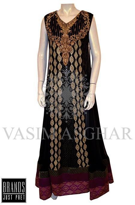 Vasim Asghar Party Dresses 2014 For Women 003