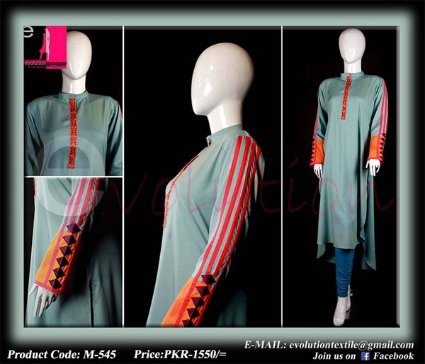 Evolution Textiles Lawn Dresses 2014 For Women 007