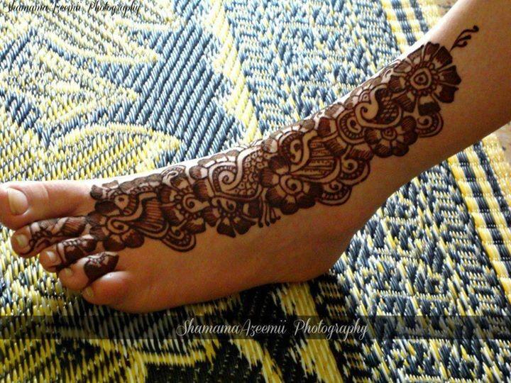 Mehndi For Foot : Foot mehndi designs for women