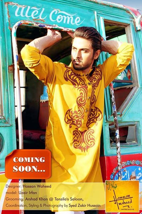 Hassan Waheed Casual Dresses 2014 For Men 004