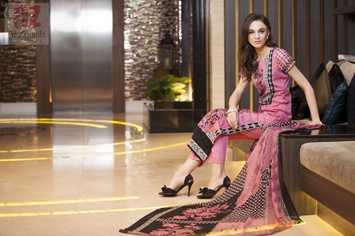 Mahnoor Spring Dresses 2014 by Al Zohaib Textile015 dress designs
