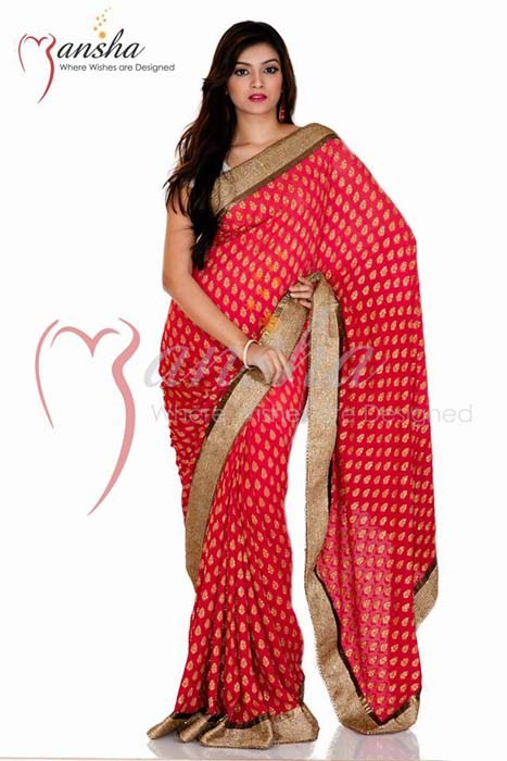 Mansha Valentines Day Dresses 2014 For Women 006