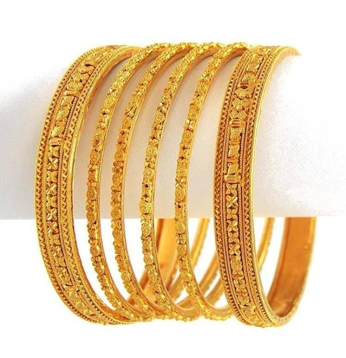New Gold Bangle Designs for Women004