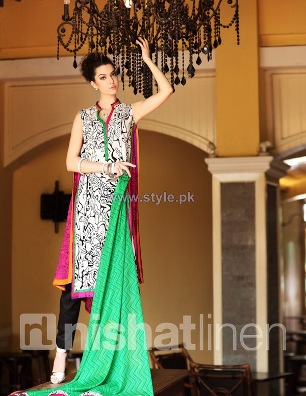 Nishat Linen Spring Summer Dresses 2014 Volume 1 8 pakistani dresses fashion brands dress designs
