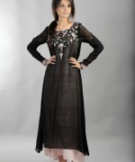 Pakistani Black And White Dress Designs For Girls 0010