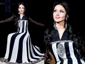 Pakistani Black And White Dress Designs For Girls 0013