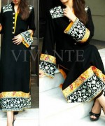 Pakistani Black And White Dress Designs For Girls 002