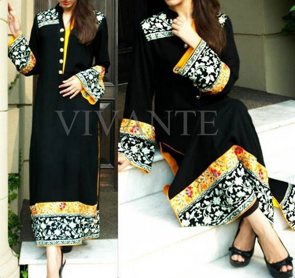 Black dress designs pakistani