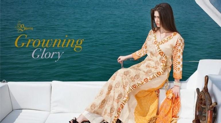 Rabea Designer Dresses 2014 by Shariq Textiles