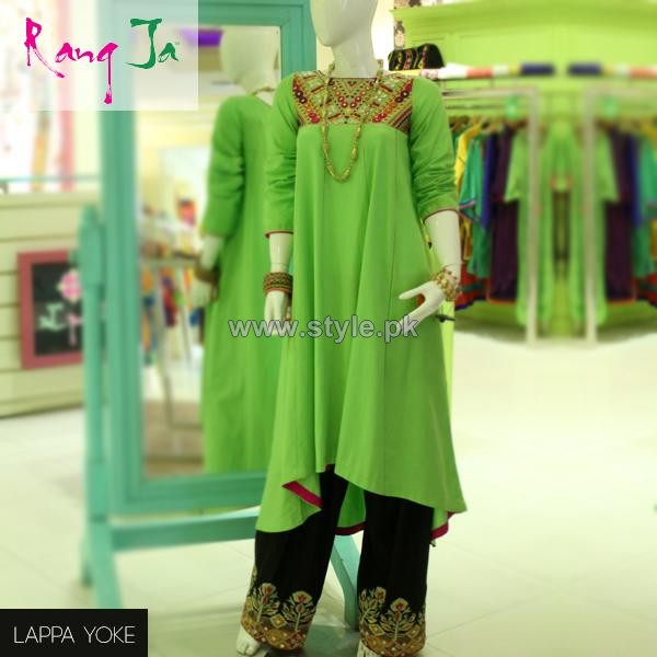 Rang Ja Casual Wear Dresses 2014 For Girls 4