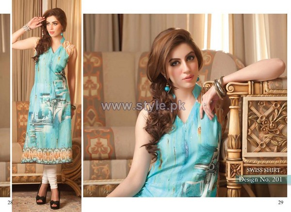 Rashid Textiles Digital Prints 2014 For Summer 3