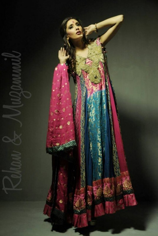 Rehan And Muzammil Party Dresses 2014 For Women 004