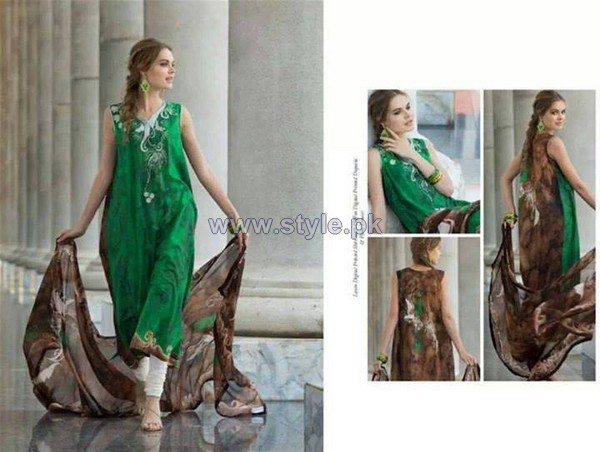 Resham Ghar Digital Lawn Prints 2014 For Women 10