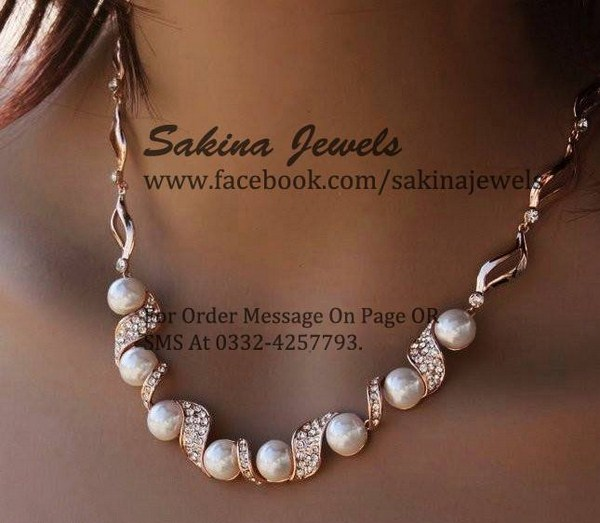 Sakina Jewelery Necklace Collection 2014 For Women 004
