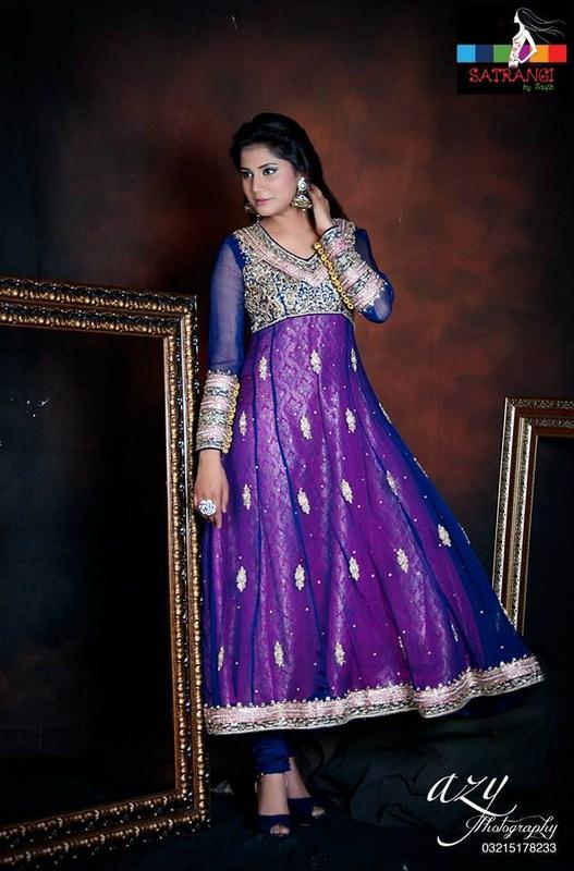 Satrangi By Saqib Formal Dresses 2014 For Women 005