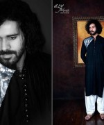 Satrangi By Saqib Spring Dresses 2014 For Men 001