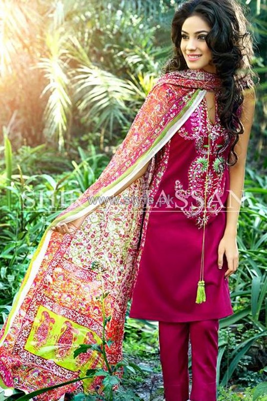 Shirin Hassan Lawn Prints 2014 For Summer 4 pakistani dresses dress designs designer dresses
