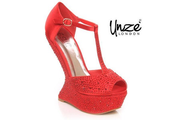 Unze Valentines Day Shoes 2014 For Women 010