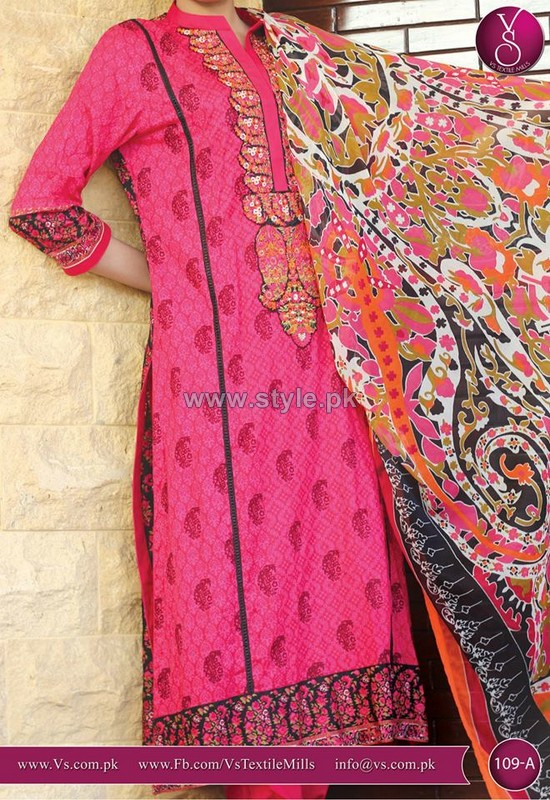 VS Textile Summer Lawn Dresses 2014 For Girls 1