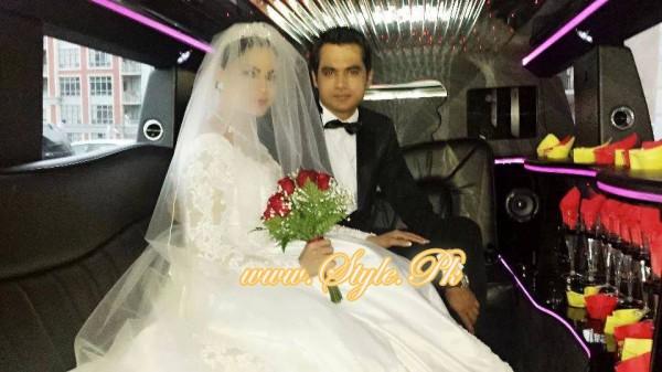 Veena Malik Valima Reception In White Wedding Style Pic 001