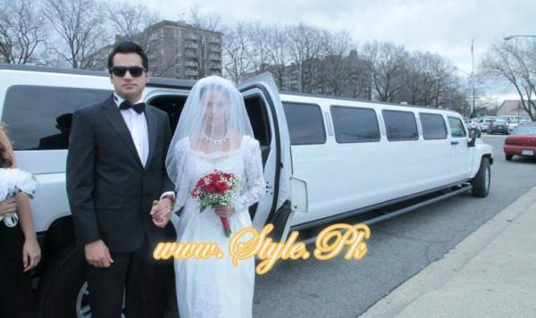Veena Malik Valima Reception In White Wedding Style Pic 04