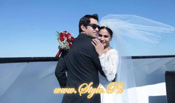 Veena Malik Valima Reception In White Wedding Style Pic 21