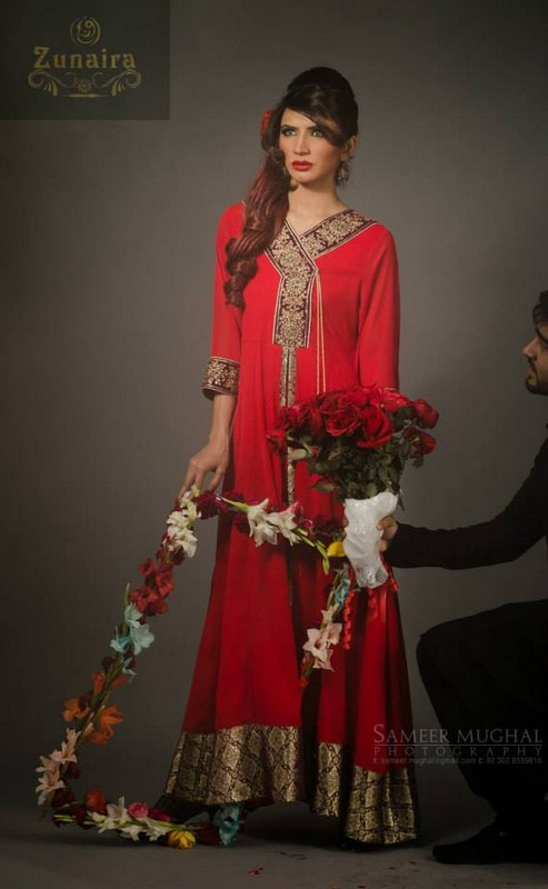 Zunaira Lounge Valentines Day Dresses 2014 For Women 003