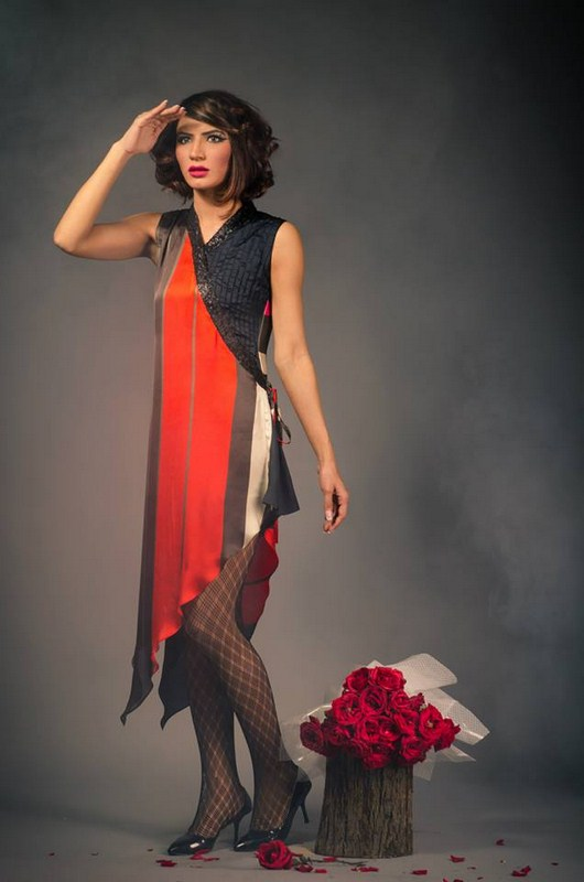 Zunaira Lounge Valentines Day Dresses 2014 For Women 005