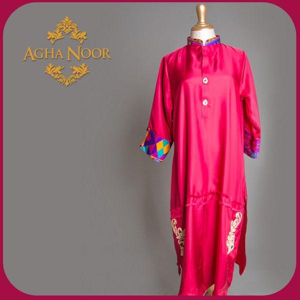 Agha Noor Spring Dresses 2014 For Women 002
