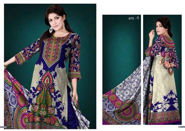 Al Hamra Textile Lawn Dresses 2014 Volume 1 For Women 002