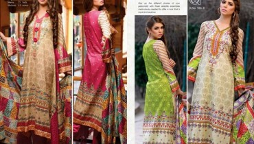 Al Hamra Textiles Lawn Dresses 2014 Volume 2 For Women 0016