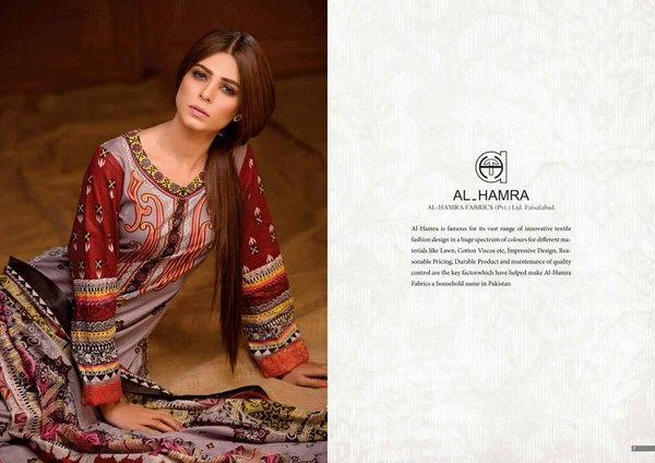 Al Hamra Textiles Lawn Dresses 2014 Volume 2 For Women 004