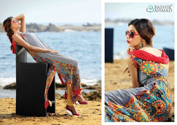 Bashir Ahmad Textiles Lawn Single Shirts 2014 For Women  002