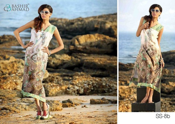 Bashir Ahmad Textiles Lawn Single Shirts 2014 For Women  009