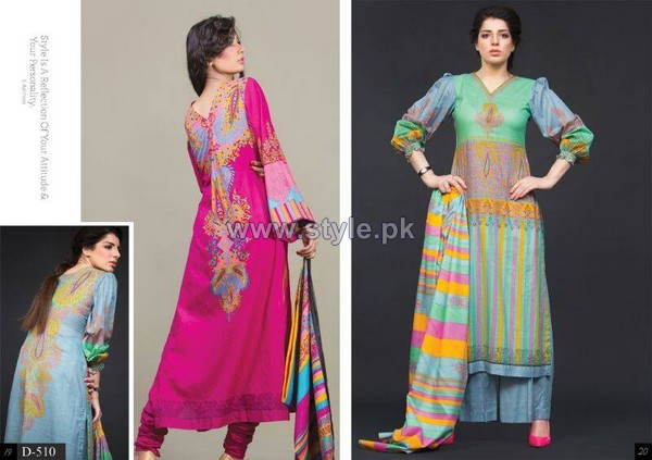 Batik Lawn Dresses 2014 by Moon Textile 4