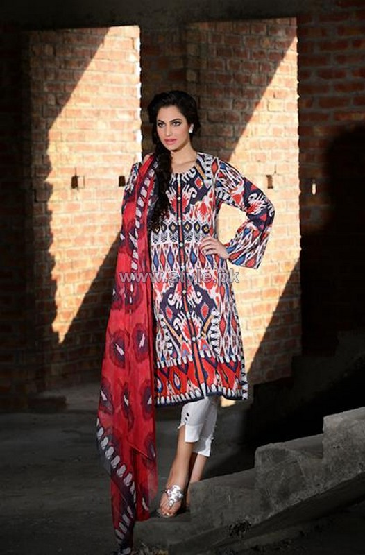 Cross Stitch Lawn Dresses 2014 For Women 7