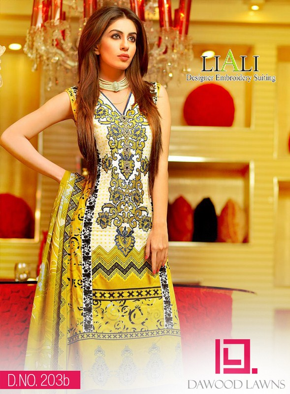 Dawood Textiles Liali Embroidered Collection 2014 For Women 008