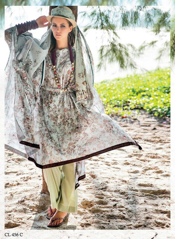 Five Star Textile Lawn Dresses 2014 Volume 3 For Women 001