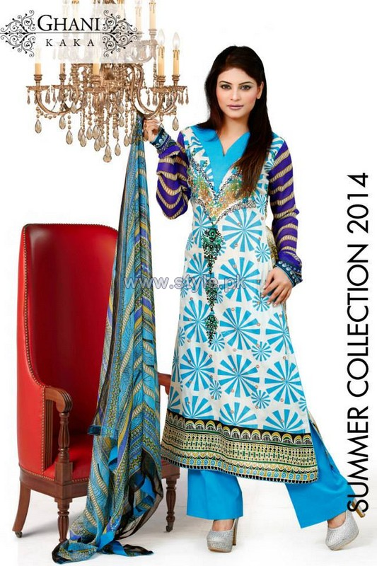 Ghani Textile Summer Dresses 2014 For Women 5
