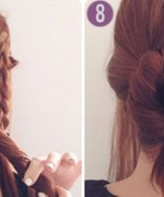 How to make side braid bun hairstyle 4