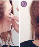 How to make side braid bun hairstyle 5