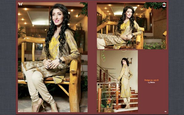 Ittehad Textiles Printed Lawn Shirts 2014 For Women 001