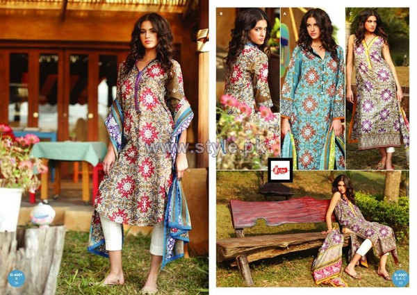 LSM Fabrics Komal Lawn Dresses 2014 For Women 10