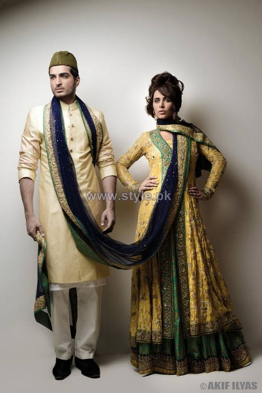 Nida Azwer Wedding Dresses 2014 For Bride and Groom 1